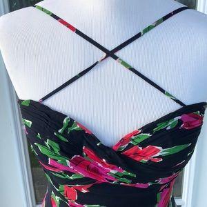 Oleg Cassini Dresses - Oleg Cassini BlackTie Floral Silk Evening Gown